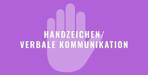 HANDZEICHEN_VERBALE KOMMUNIKATION